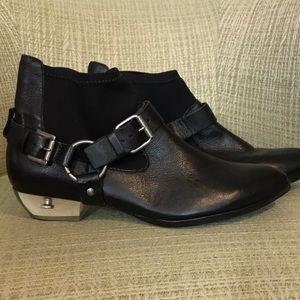 Black Booties with Lucite Heel 7